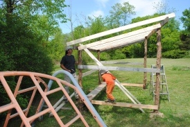 Mr. Andrew builds a carpenter's shed